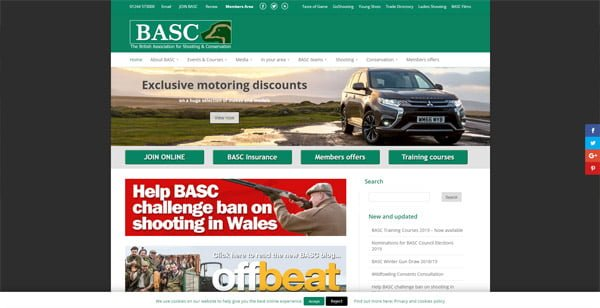Keep up to date with UK fieldsports news